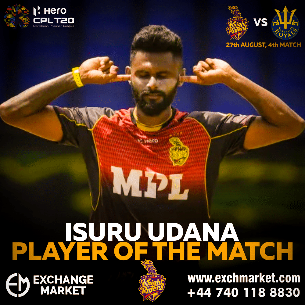 Isuru Udana was adjudged the player of the match for his lethal bowling