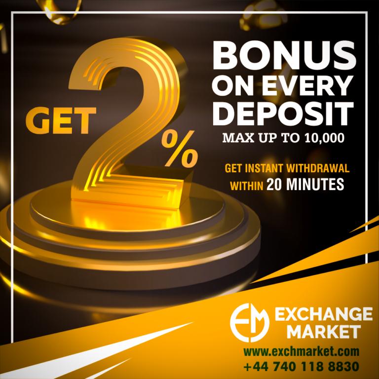 Get 2% Bonus