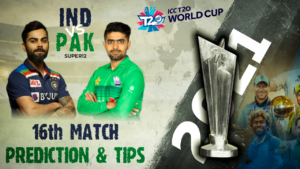 IND vs PAK Super 12 16th Match Prediction and Tips ICC T20 World Cup 2021