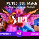 SRH vs MI 55th Match Prediction and Tips